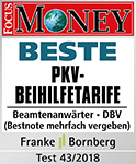 Siegel Focus Money - Beste PKV-Beihilfetarife