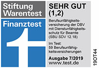 Siegel Finanztest 07/2017